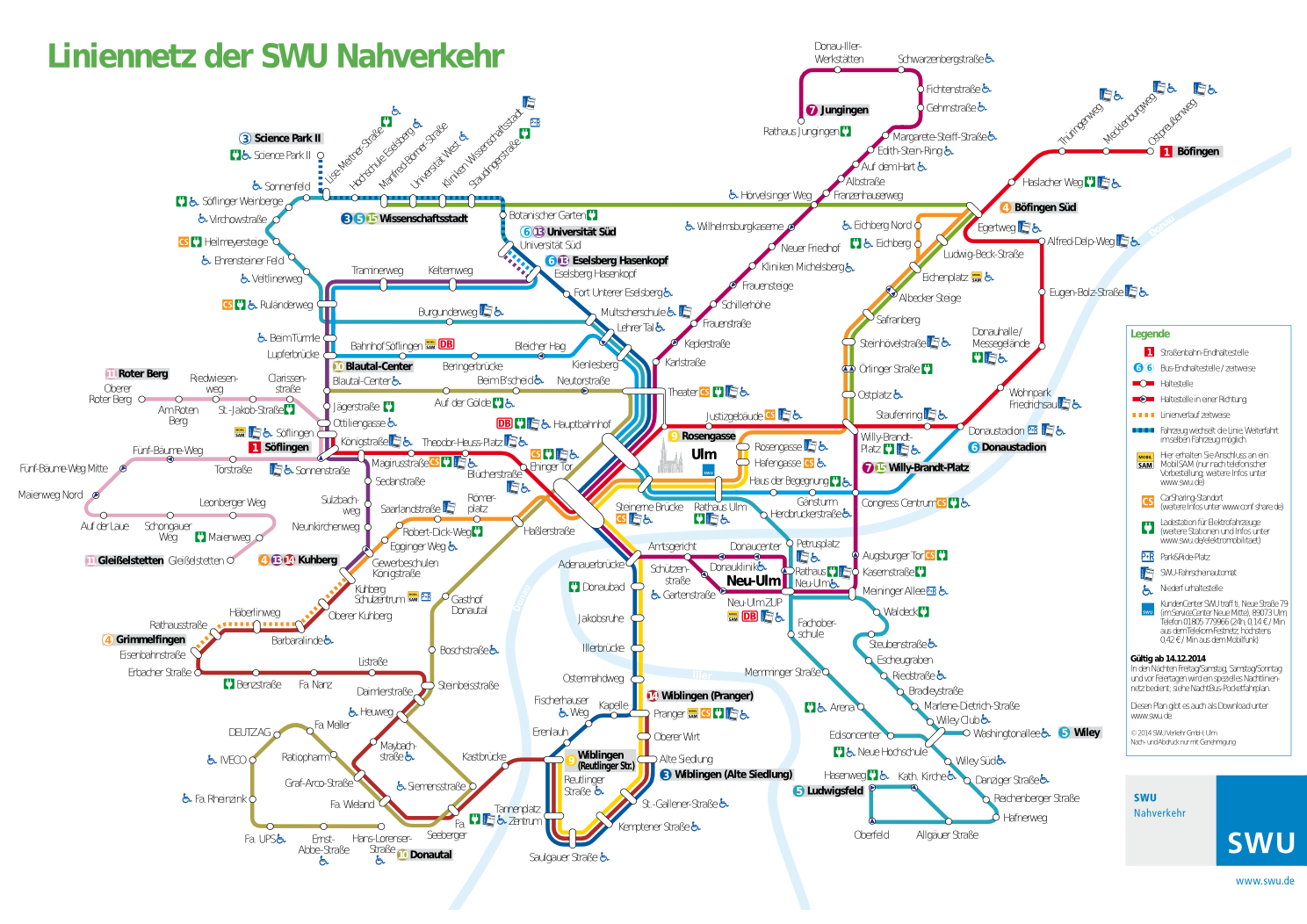 Accessibility of the Ulm Public Transit System